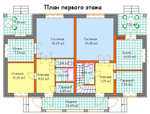 Дом на две семьи 1 этаж