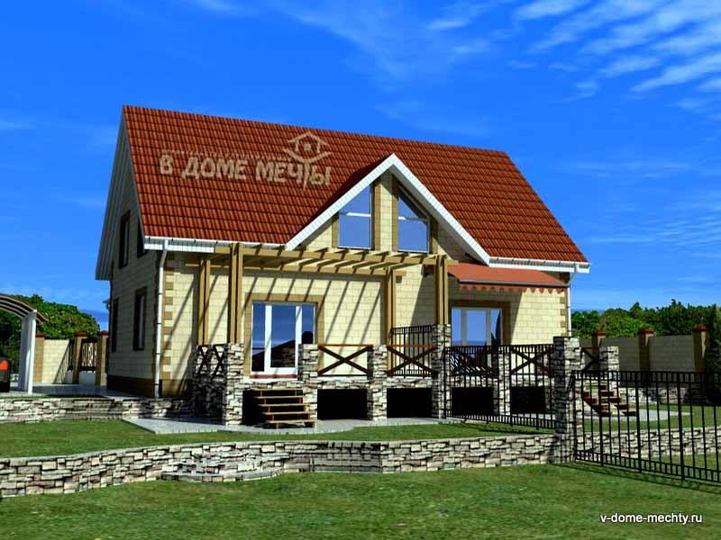 Проект дома на две семьи в Белгороде ПФ1
