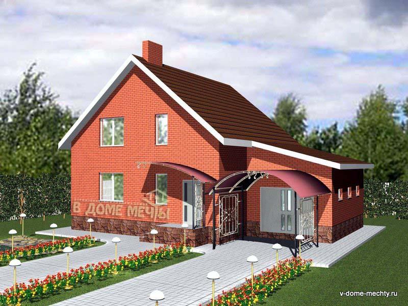Проект мансардного дома в городе Строитель М145-5ф