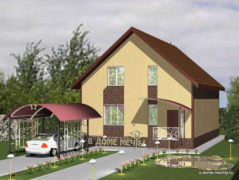 Проект мансардного дома в городе Строитель М145-5ф_1