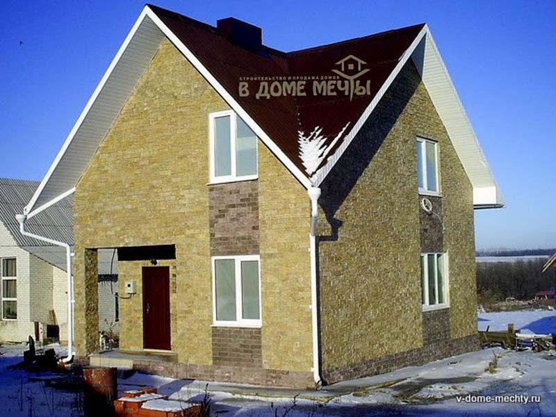 проект мансардного дома в городе Строитель пф