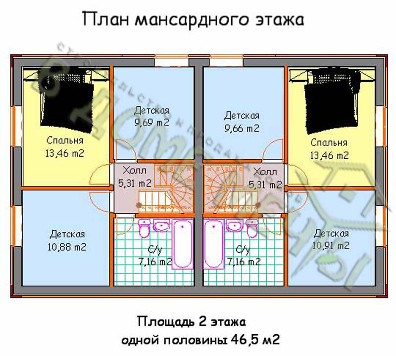 Проект дома на две семьи в Белгороде