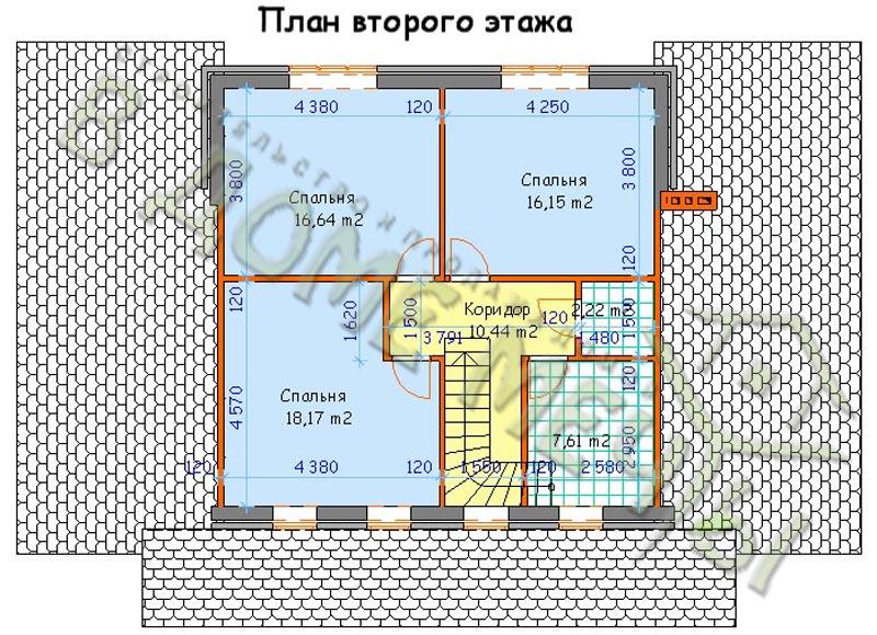 Проект дома на две семьи_план2