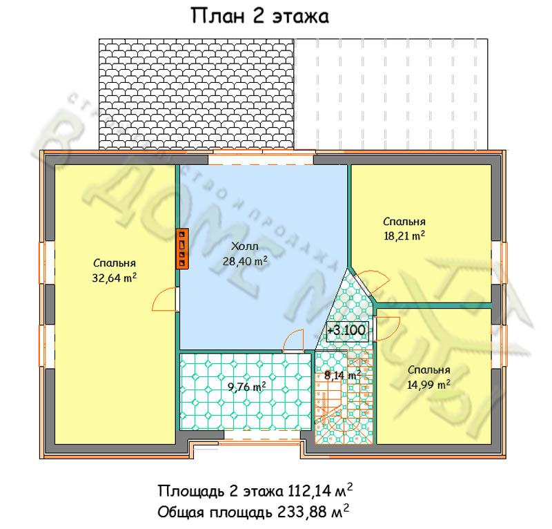 Проект дома в Белгороде plan 2 m234-5kgk