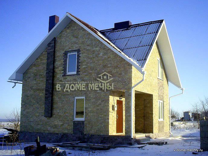 проект мансардного дома в городе Строитель bф