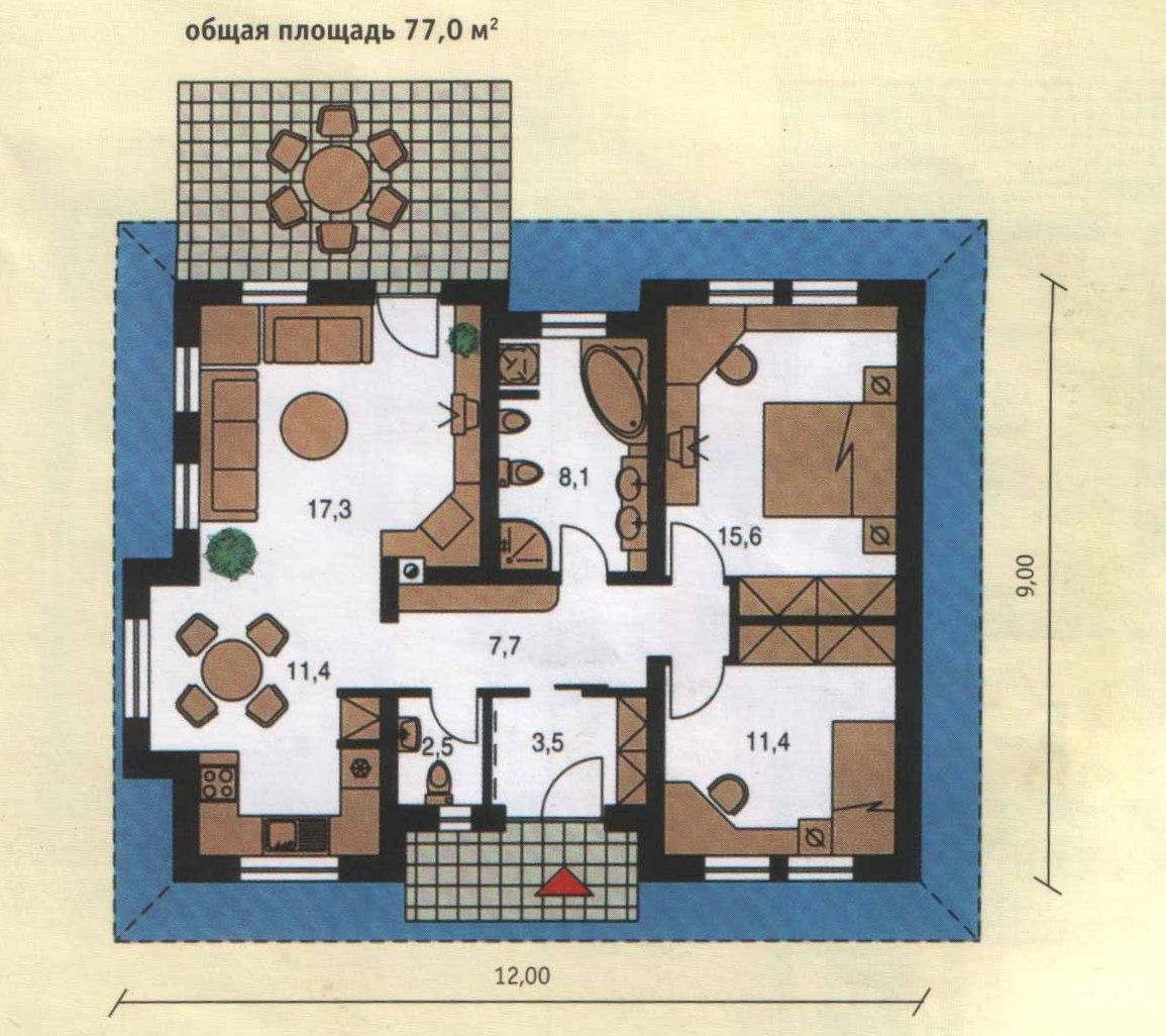 план 1 дом