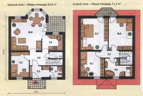 план 2 эт дом