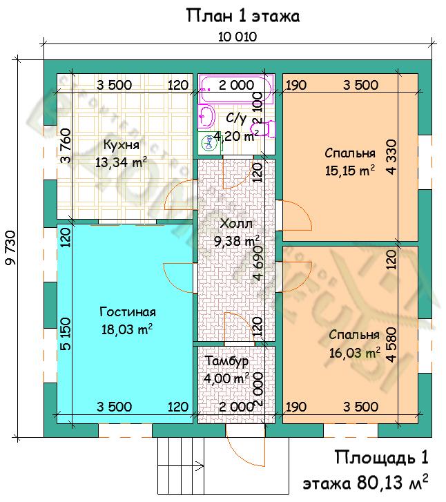 план недорогого дома