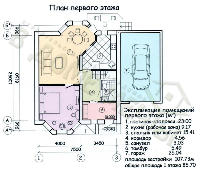 М138-4ф план 1 эт