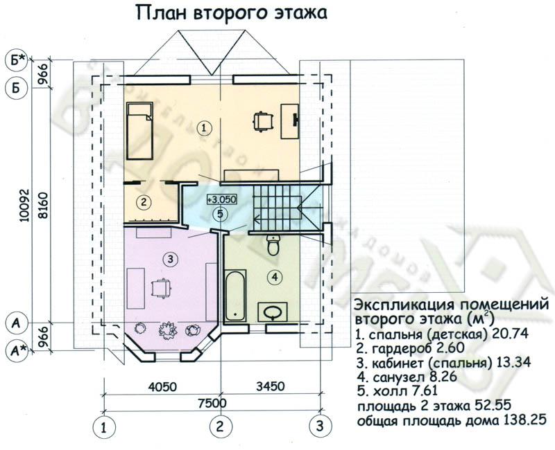 М138-4ф план 2 эт