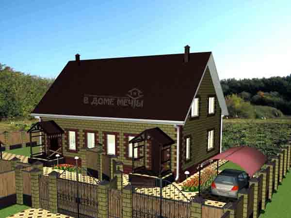 Проект дома на две семьи в Белгороде ПФ
