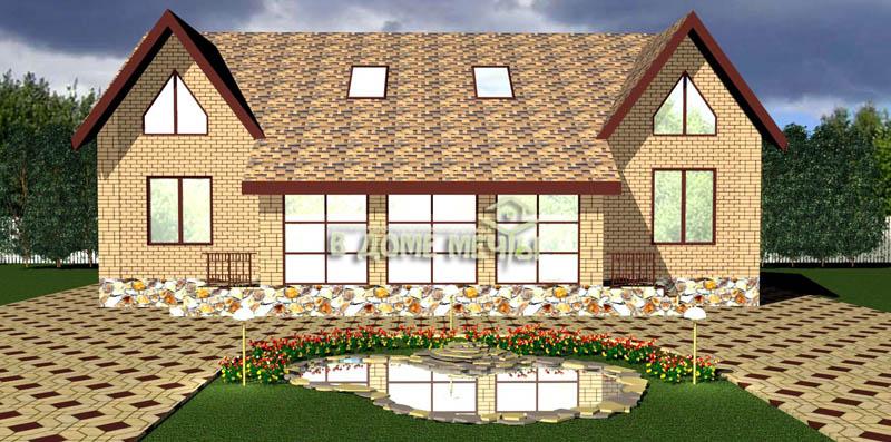 Проект дома на две семьи1