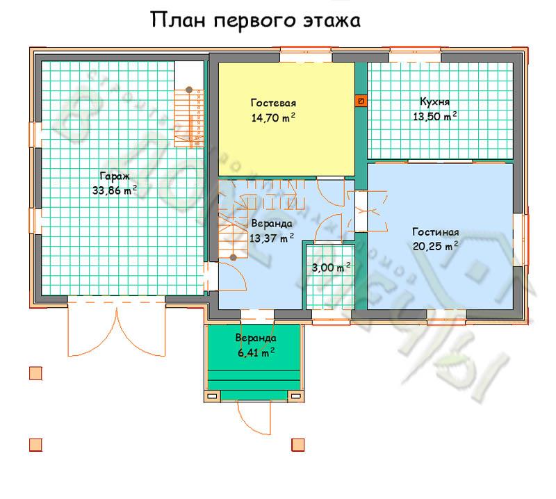 Проект дома в Белгороде m170-5kg_plan1