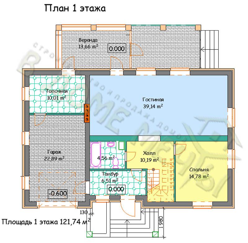 Проект дома в Белгороде plan1 m